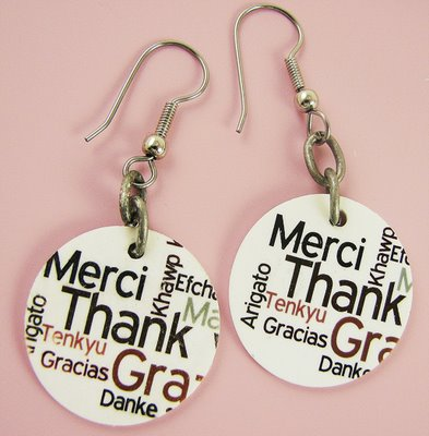 HB earrings 793901 Thank you! in so many different languages