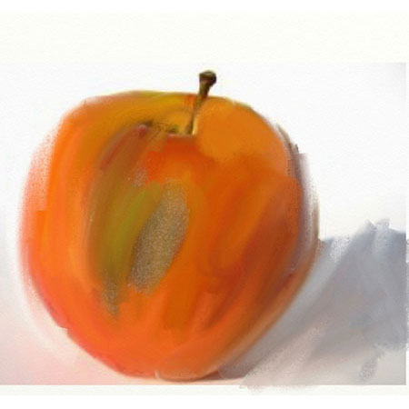 Artrage apple11 An apple a day   ArtRage   Day 4