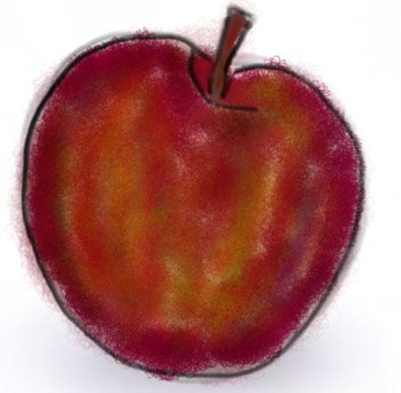 artstudio ipad drawing apple An apple a day   ArtStudio on the iPad   Day 10