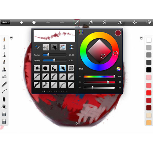 sketchbookpro brushes palette An apple a day   Back to SketchBook Pro   Day 6