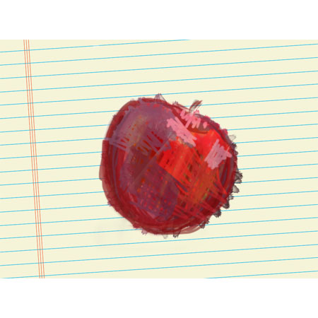 sketchbookpro redapple1 An apple a day   Day 1   Sketchbook Pro