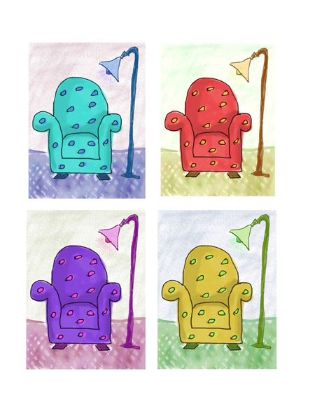 chairs warhol style paintbook Warhol style imagery
