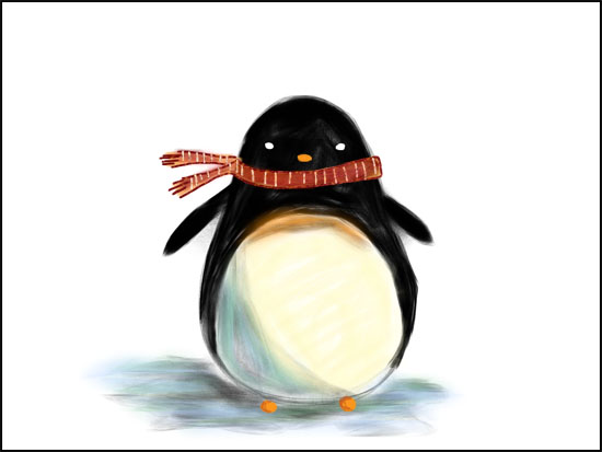 penguin 1 from sketchbook pro drawing cute penguins on the ipad