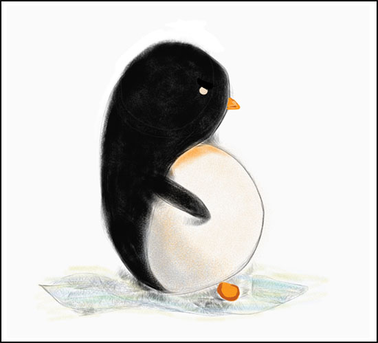 penguin 1 from SketchBook pro 2 Drawing Cute penguins on the iPad