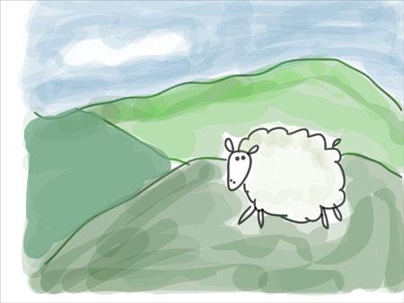 sheep3 adobe ideas Drawing in Adobe Ideas