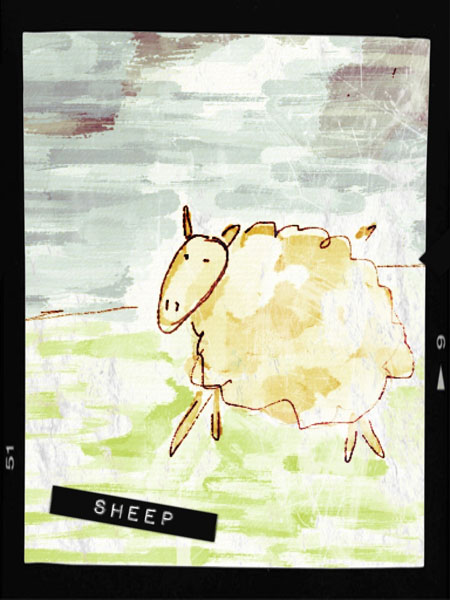 sheep 1 Label and grunge an Auryn Ink Sheep