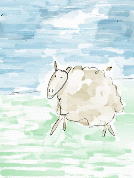 sheep auryn ink Painting a sheep in Auryn Ink