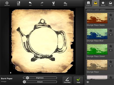 teapot photostudio PhotoStudioHD iPad app rocks this image