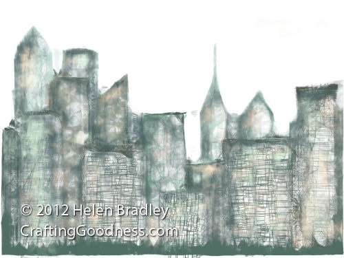 omnisketch cityscape Draw a Cityscape in OmniSketch on the iPad