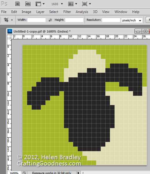 resize a knitting pattern41 Use Photoshop to Resize a Knitting Design