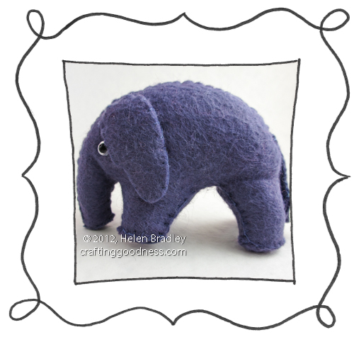 Felt elephant 3d Sew your own felt elephant