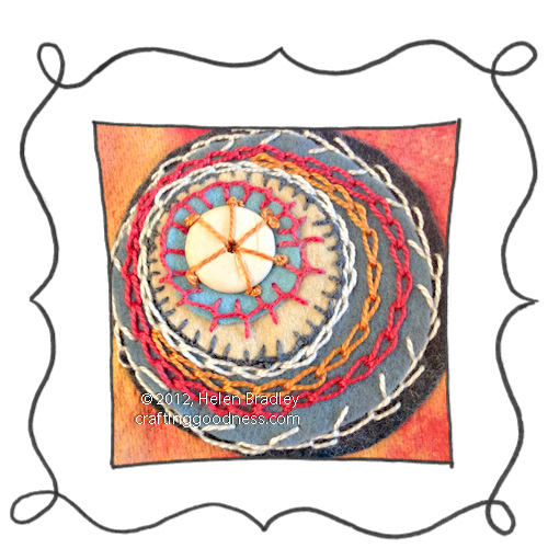 Embroidery chain stitch example Embroidery 101   Chain stitch