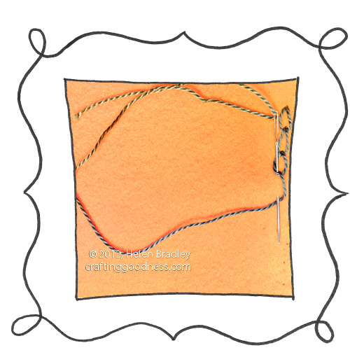 Embroidery chain stitch step1 Embroidery 101   Chain stitch