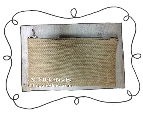 burlap pencil case pouch opener Burlap Pencil Case