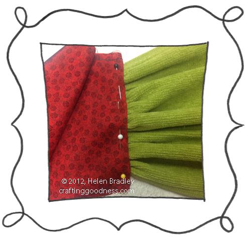 kitchen towel from fingertip towels diy step1 DIY Kitchen towels from Fingertip Towels