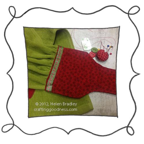 kitchen towel step5 DIY Kitchen towels from Fingertip Towels