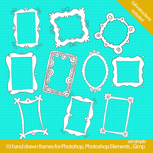 photoshop frames1 Cool Hand Drawn Frames for your Blog