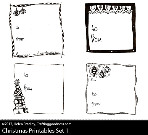 graphic relating to Printable Christmas Tags Black and White named Totally free obtain - Printable Reward Tags for Xmas providing