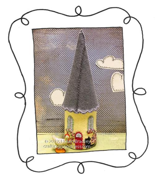 felt covered jar mini house 31 Mini felt house awesomeness