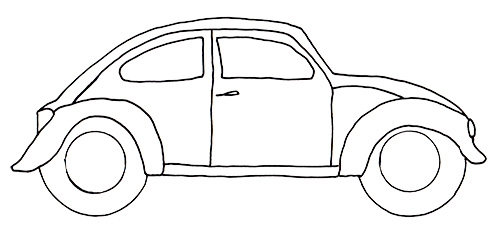 vwbug template free vw bug pattern download