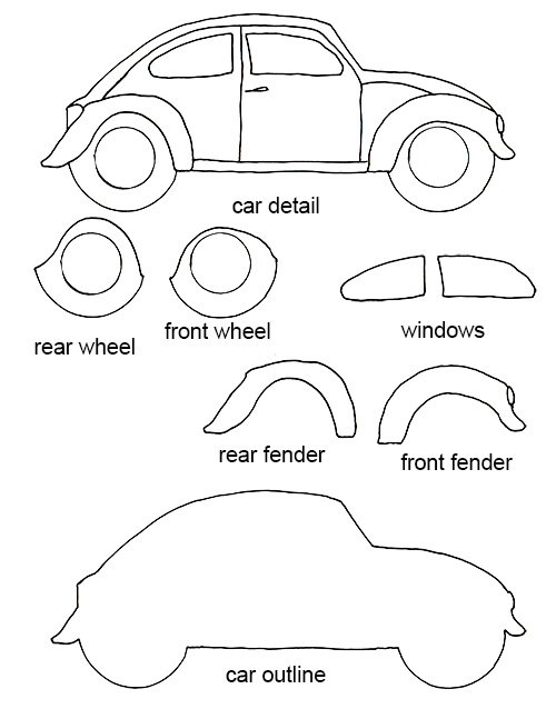 free craft templates to print free vw bug craft template crafting goodness