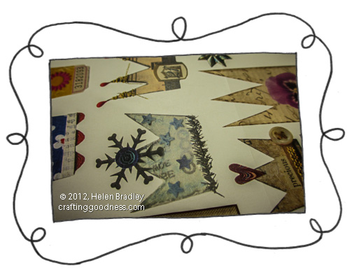 paper cutouts from ArtChixstudio The Recycled Tag Project   Collage Crowns