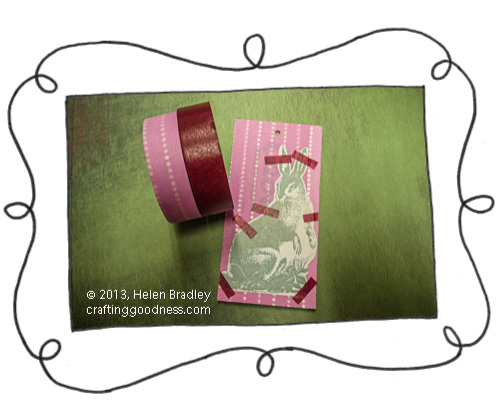 recycled clothing tag easter printable rabbit and washi tape The Recycled Tag Project   Washi Tape and free Easter Rabbit Printable
