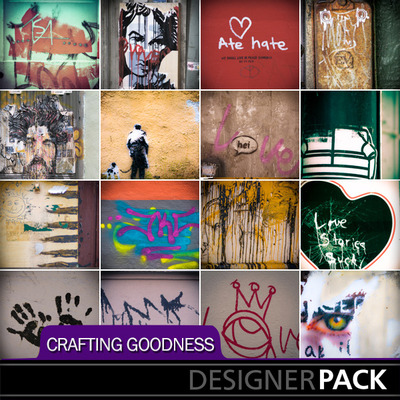 Web THUMB filled with guides Graffiti grunge for digi scrapbooking