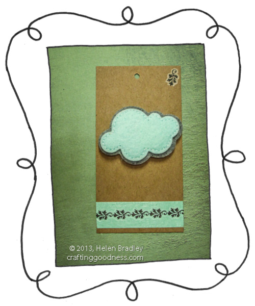 recycled clothing price tag felt dimensional cloud and rubons opener The Recycled Tag Project   Felt cloud stickers and rub ons