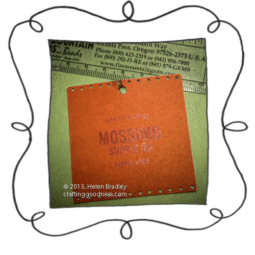 recycled clothing tags simple weaving loom fluffy tag 1 Fluffy weaving on a recycled clothing tag