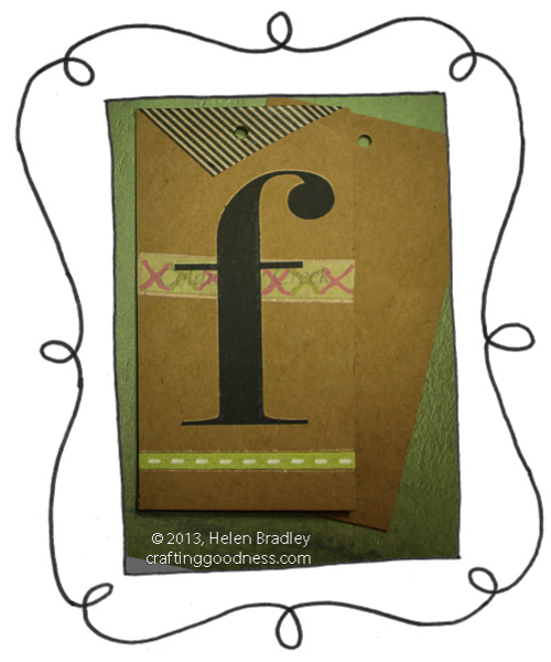 recyle clothing tag washi tape and rubon letter opener The Recycled Tag Project   Rub ons and Washi Tape