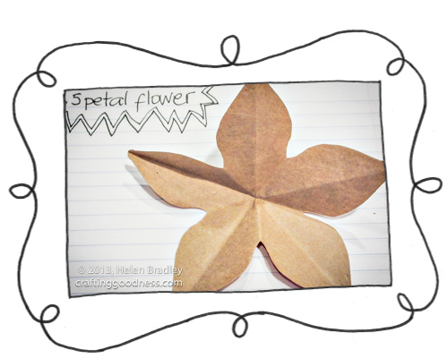 fold and cut 5 petal paper flower 13 Fold and cut a 5 petal paper flower