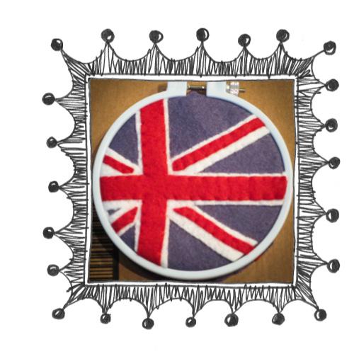 union jack felt embroidery frame Union Jack Felt Hoop