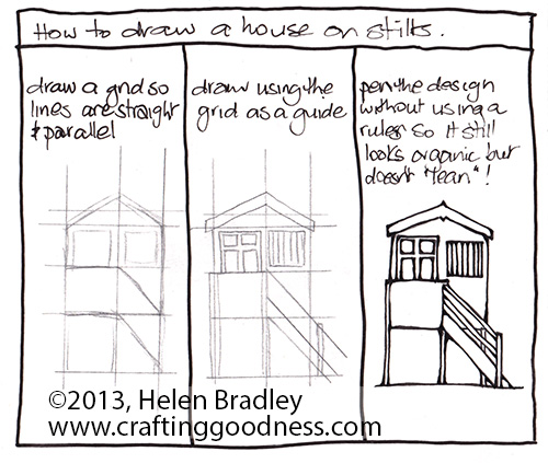 How To Draw A House On Stilts