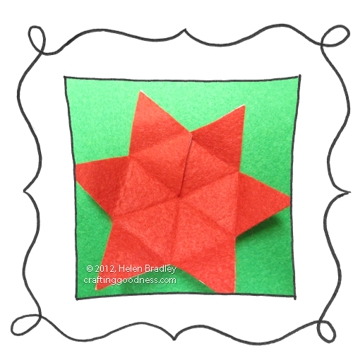 make a 5 pointed dimensional felt star ornament4 Make a dimensional felt 5 pointed star