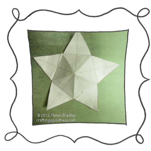 make a 5 pointed dimensional felt star ornament6 Make a dimensional felt 5 pointed star