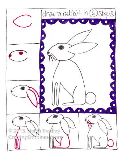 step by step how to draw a rabbit Step by step how to draw a rabbit