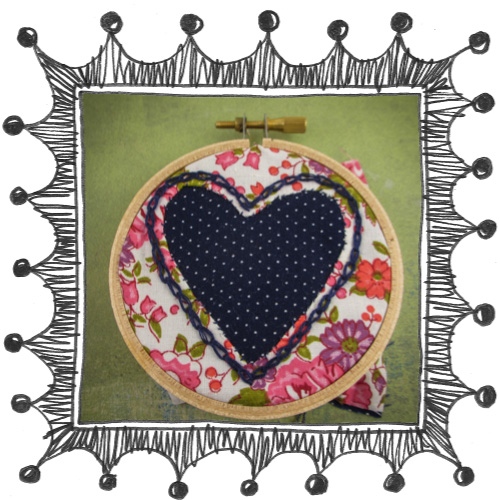149 reverse applique heart 2 Reverse Applique Embroidered Heart