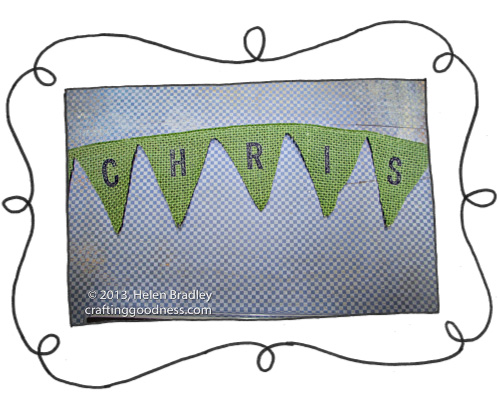 burlap bunting no sew no glue cut and go 3 Quick and Easy Burlap Bunting from Wired Ribbon