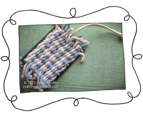 woven tag blue fawn opener Recycled Clothing Tag Project   blue and fawn weave