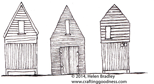 cabins2 Drawing   Log Cabins