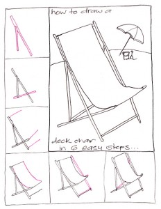 How To Draw A Deck Chair In 6 Steps Deck Chair 6 Steps