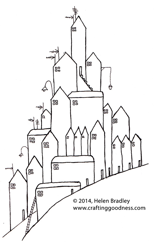 hillhouses Drawing   Hill Houses