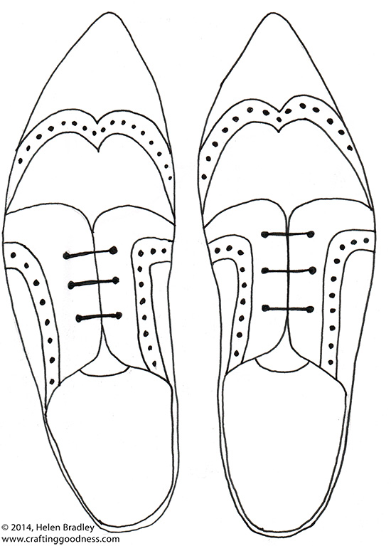 Shoes How To Draw Brogues In 6 Steps