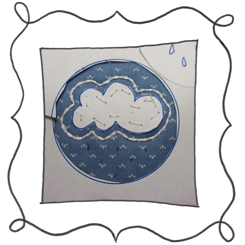 cloud reverse applique embroidery 03 Mini Reverse Applique and Embroidered Cloud