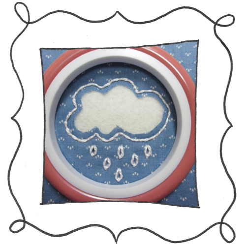 cloud reverse applique embroidery 07 Mini Reverse Applique and Embroidered Cloud