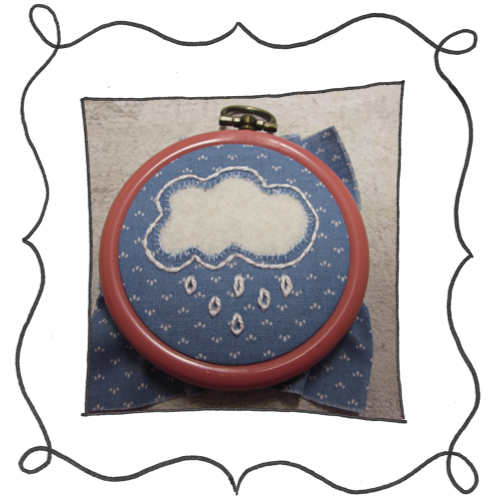 cloud reverse applique embroidery 11 Mini Reverse Applique and Embroidered Cloud