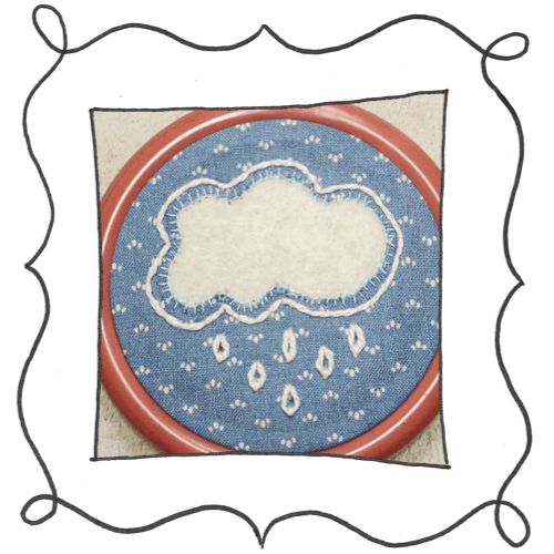 cloud reverse applique embroidery 16 Mini Reverse Applique and Embroidered Cloud