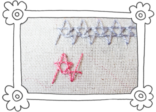 double insertion stitch steps 06 Double Insertion Stitch aka Two Sided Insertion Stitch