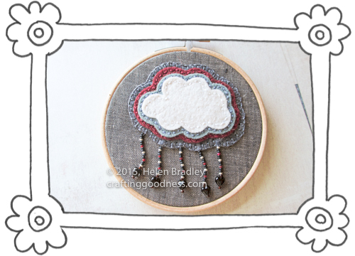 felt clouds 2 Mini Cloud Embroidery with Beads